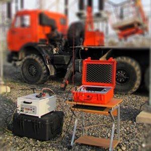 Overhead line testing system