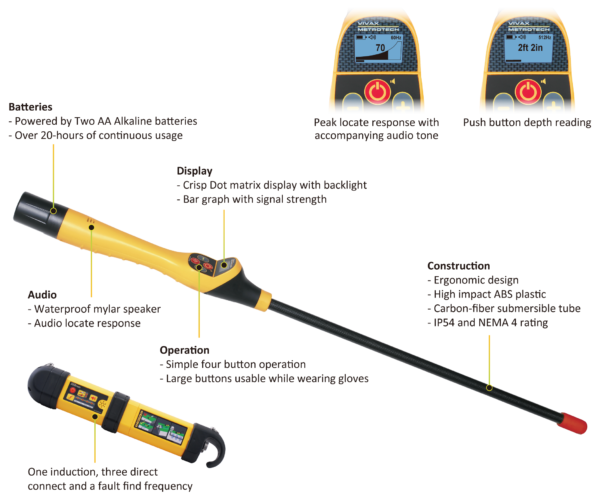 VM-585 Service Drop Locator & Metal Detector